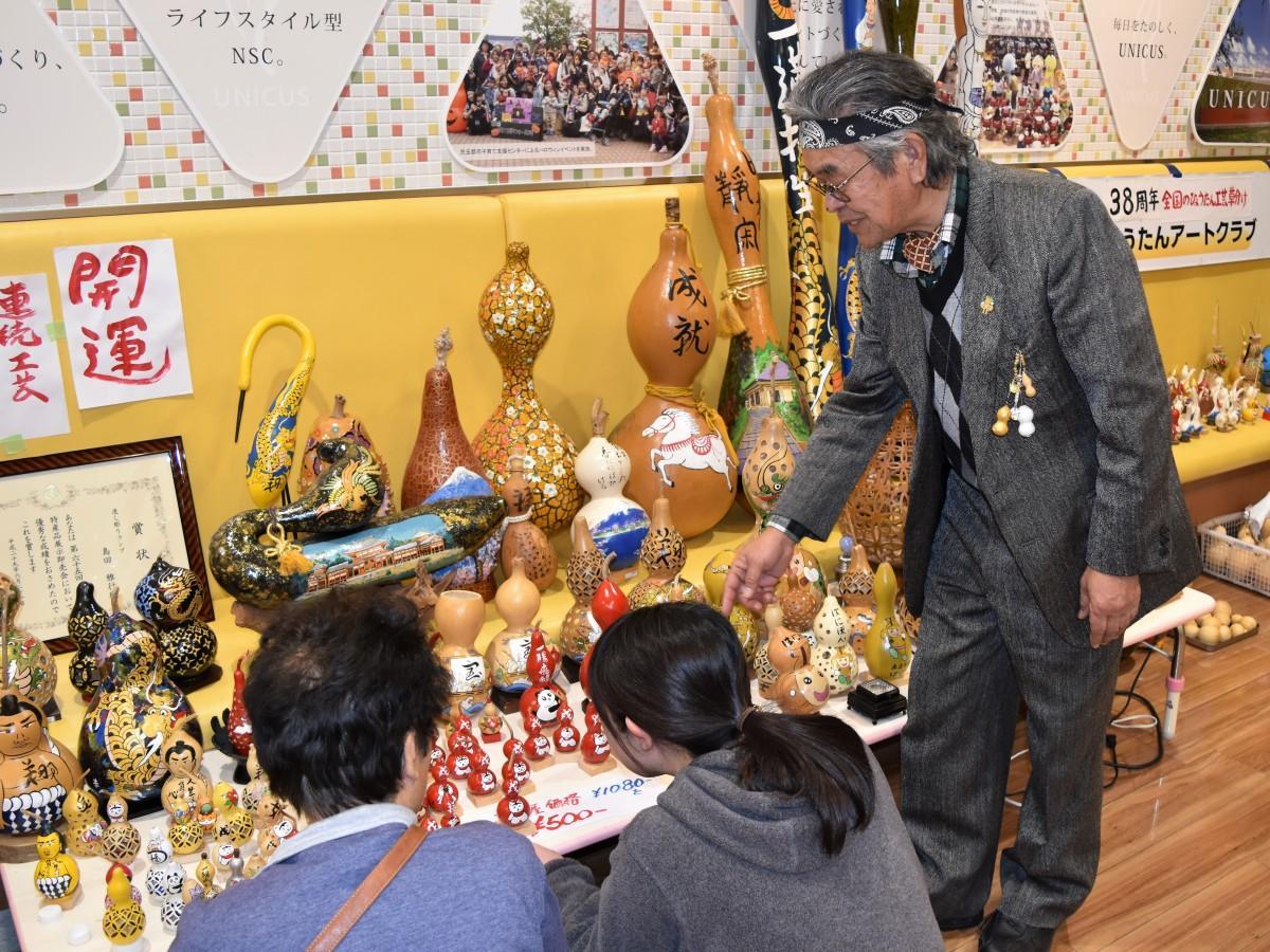 埼玉・上里町で「ひょうたん書き初め大会&ひょうたんアートクラブ展」