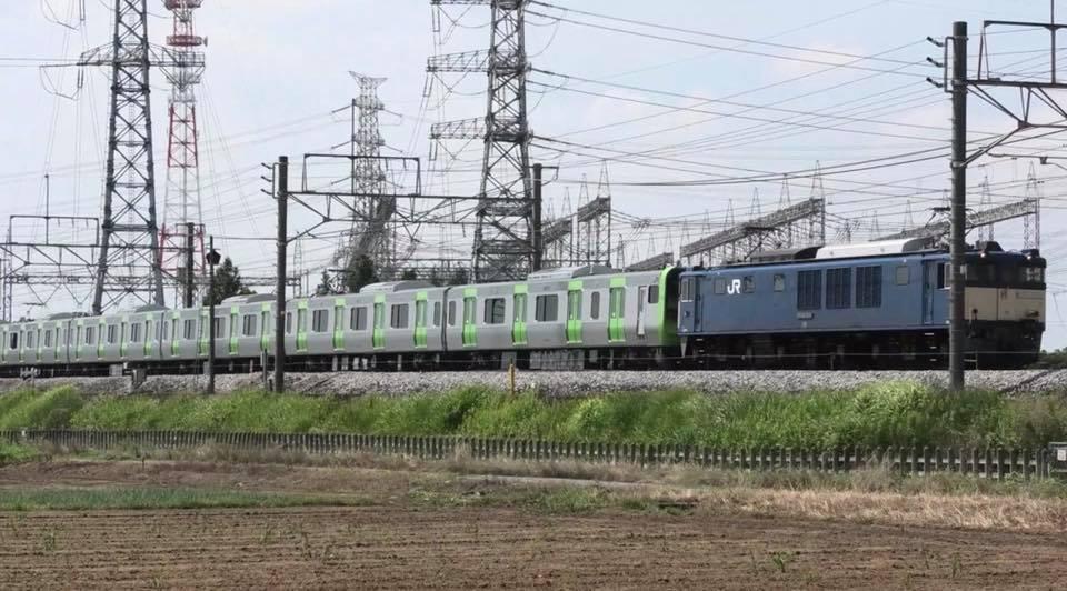 JR高崎線を走る山手線新型車両E235系