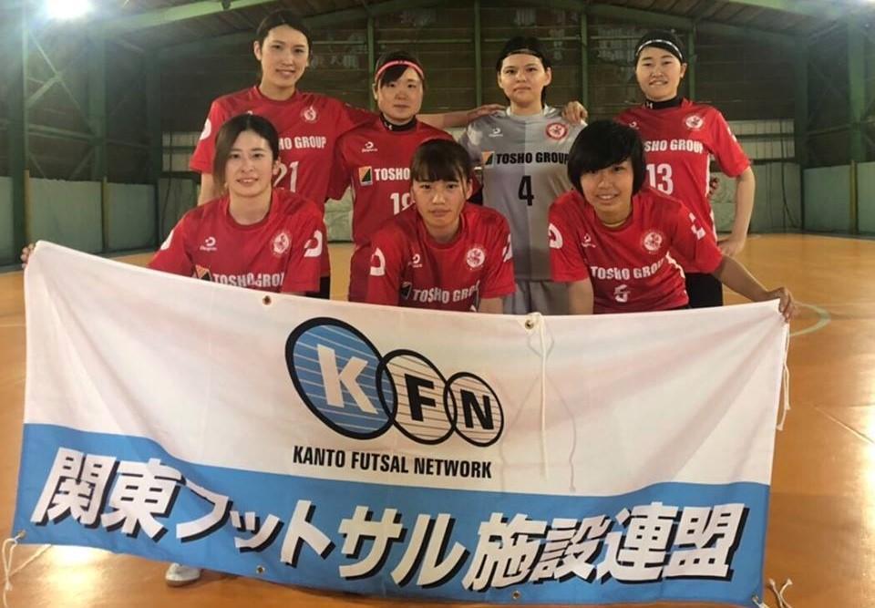 第8回日本フットサル施設連盟選手権関東大会で準優勝した「ポルコ」の選手
