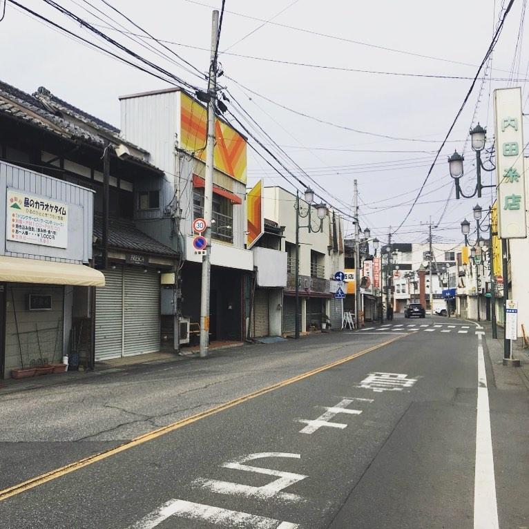 本庄市内の商店街(銀座通り)