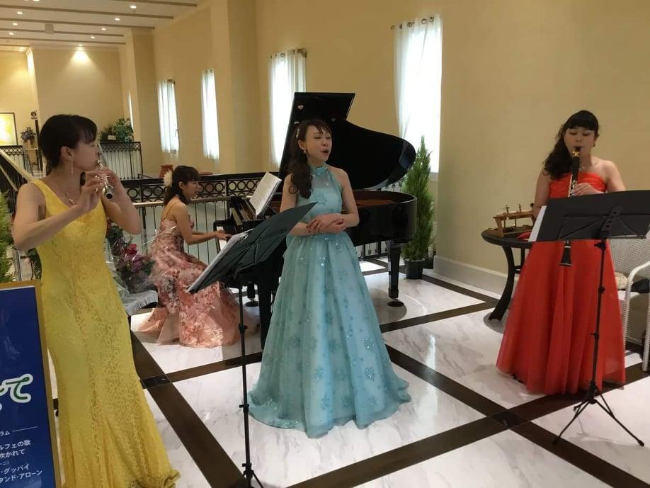 「キアラ・ミュージック アンサンブル」が6月2日、上里カンターレで行った公演の様子