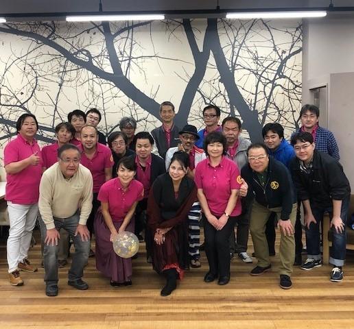 「スターダストジャズオーケストラ」のメンバー(昨年11月撮影)