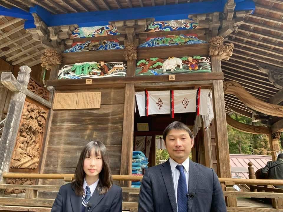 彩色修復を行った小坂諏訪神社
