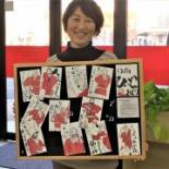 日向のデイサービス「よつ葉」で絵手紙教室 講師は失語症と向き合う地元作家
