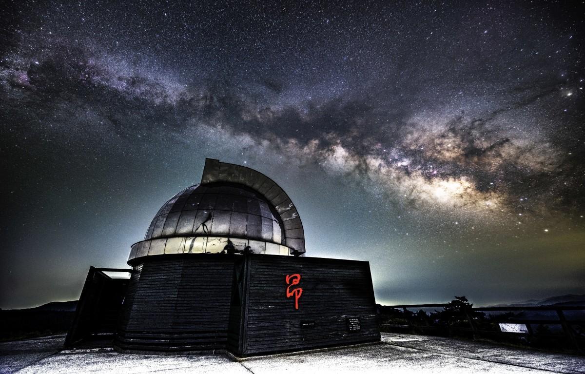 中小屋天文台「昴ドーム」と天の川
