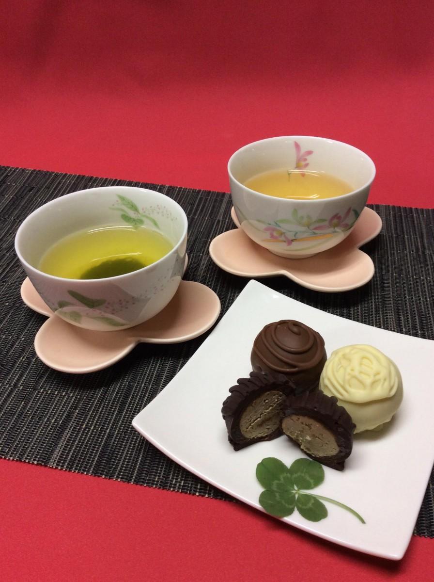 チョコレートと緑茶のマリアージュを楽しむ試み