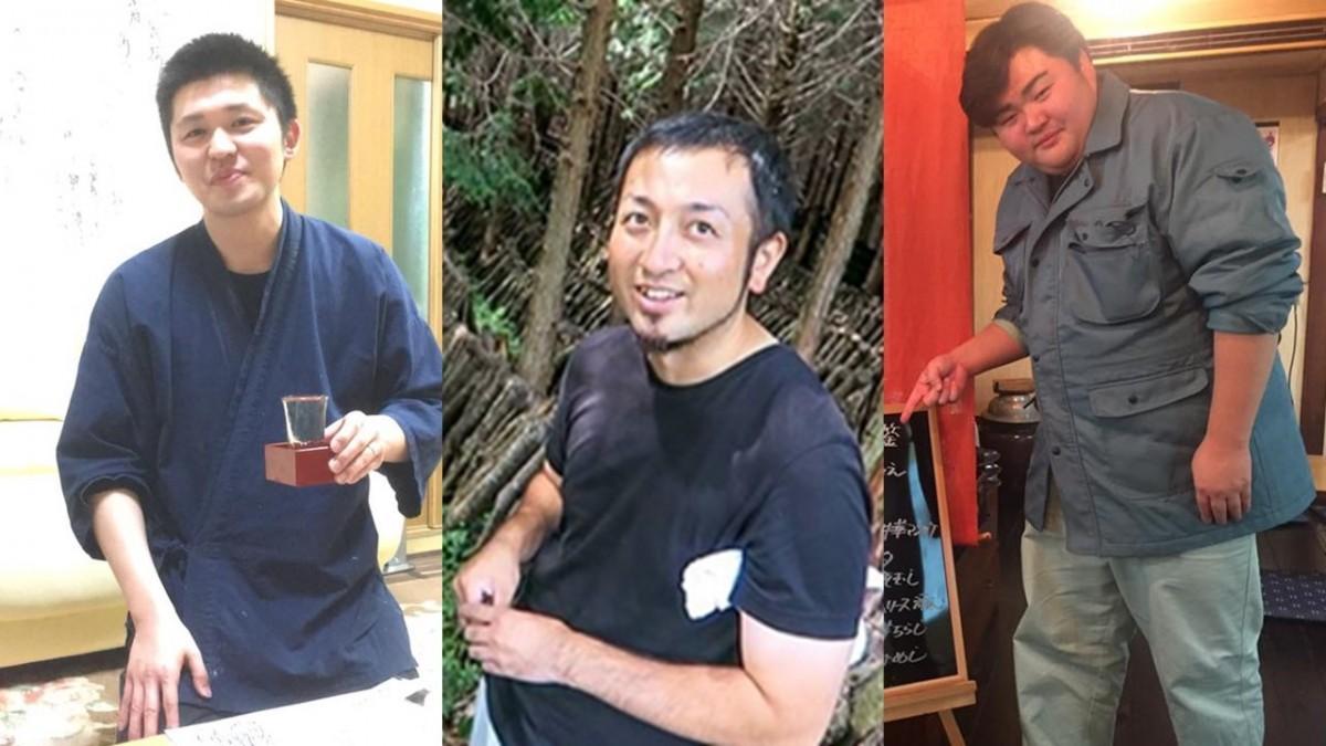 椎葉村商工会青年部の右から椎葉さん、山中さん、鈴木さん