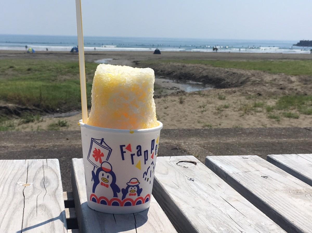お倉ヶ浜海岸と人気の「マンゴーミルクかけかき氷」