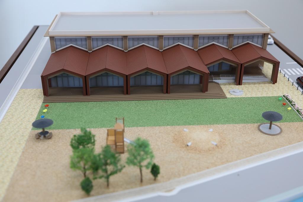 「(仮称)子どもの城」の完成模型