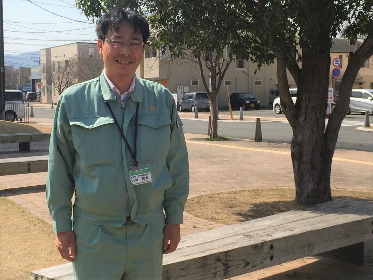 大勢の参加を呼び掛ける、日向市市街地整備課の大崎雅彦さん