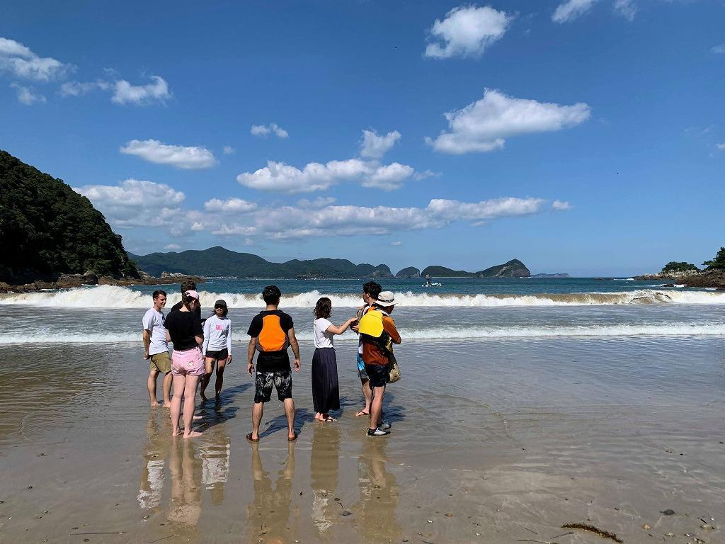島野浦のプライベートビーチ「影の浦」