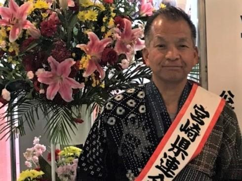 野良着の衣装の那須記男さん