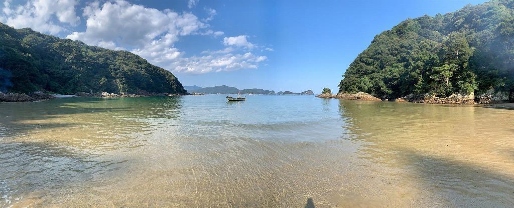 島野浦のプライベートビーチ、影の浦