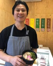 宮崎・日向のギョーザ専門店が1周年 持ち帰り用ラーメンを開発