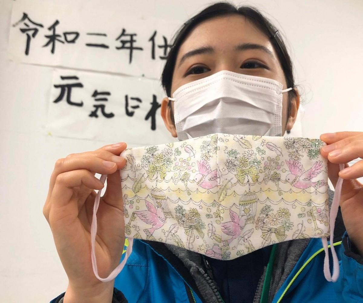 福祉工房「ゆめたまご」のハンドメードのマスク