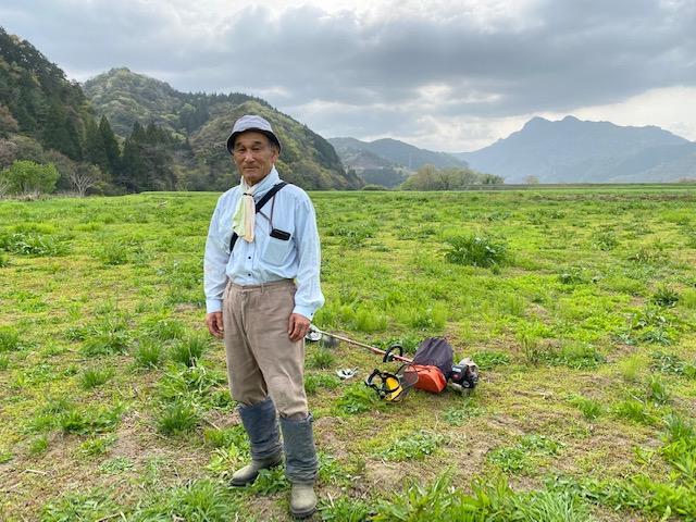 のつる自然公園を管理し、事務局を担当する黒木善久さん