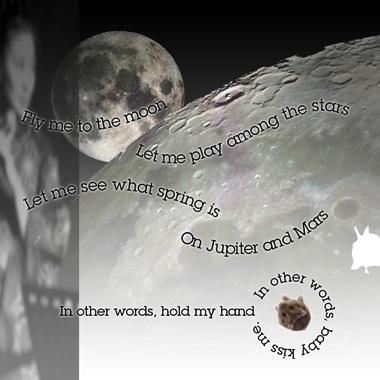 写真=中秋の名月に向けた月のイベント「Fly me to the moon」のポスター