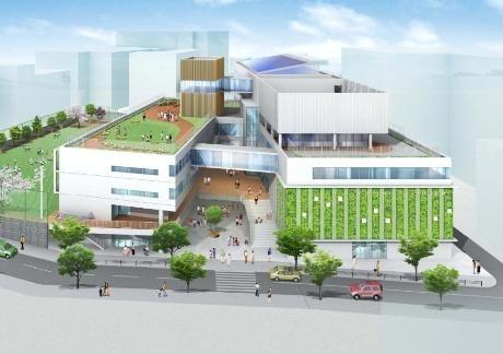 千代田区「富士見こども施設(仮称)」の完成イメージ