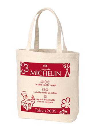 「ミシュランガイド東京2009」のロゴが入ったエコバッグ