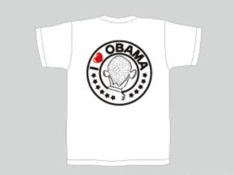 「オバマ候補を勝手に応援する会」の公認Tシャツ