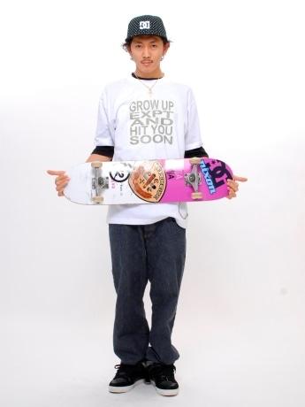 スケートブランド「EXPERTISE(エクスパティーズ)」のディレクションを担当するプロスケーターの浦友和さん