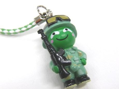 陸上自衛隊のまりもっこり。海上・航空との違いは武器(機関銃)を携帯しているところ。