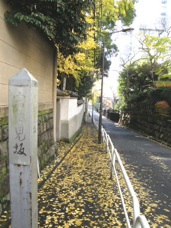 靖国神社の北側に位置する富士見2丁目と九段北3丁目の間の「富士見坂」