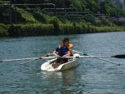 飯田橋の外堀でボート体験教室-都心の水辺で自然に親しむ