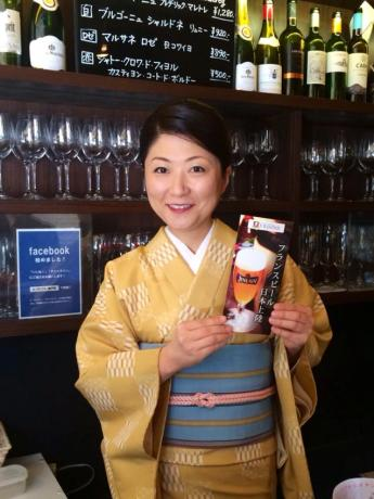 神楽坂のフレンチ前菜食堂「ボン・グゥ 神楽坂」で「神楽坂フランスビールの会」を開催(画像=主宰の平田亜矢子さん)