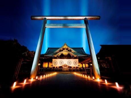 初開催となる夜間参拝「みらいとてらす-秋を彩る九段の光-」