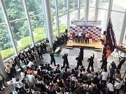 法政大学でリオ五輪壮行会 競泳・青木選手らに大きな声援