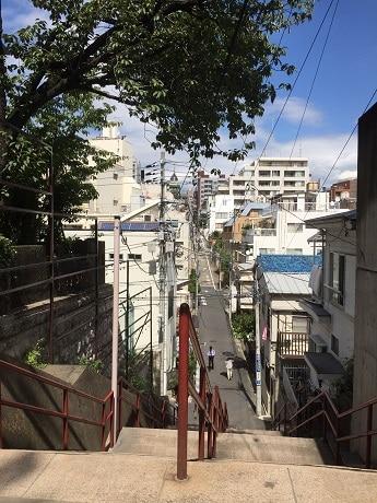 瀧と三葉がすれ違う階段として描かれている須賀神社の階段