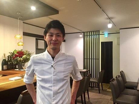 神楽坂「しゅうご」の姉妹店として四ツ谷駅近くにオープンしたイタリアンレストラン「La Mela」の宮添亮太シェフ