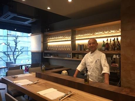 麹町駅近くにオープンしたイタリアンレストラン「OSTERIA 銀白」石津宏康シェフ