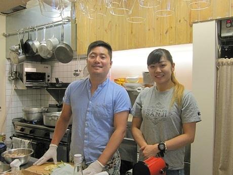 牛込神楽坂にオープンしたフレンチビストロ「BOLT」店主の仲田さん夫妻