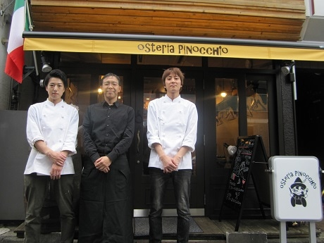 四ツ谷の裏路地にイタリア酒場「Osteria Pinocchio」がオープン(画像=スタッフの皆さん)