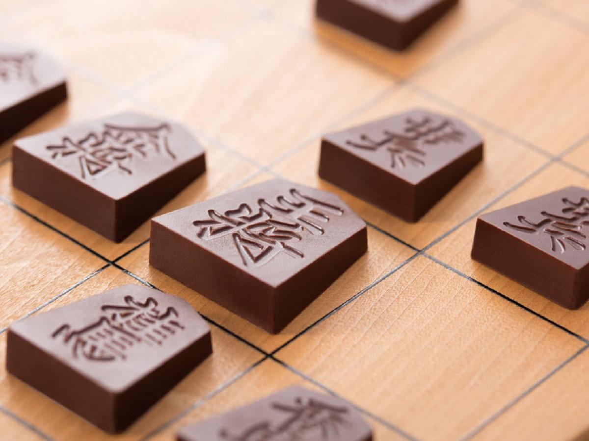 半蔵門・一心堂本舗が販売する将棋の駒を再現したチョコレート「Shogi de Chocolat(将棋 デ ショコラ)」