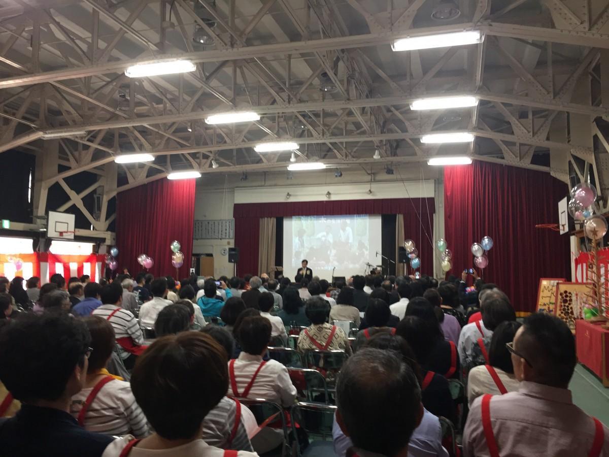 四ツ谷・東京おもちゃ美術館が開館10周年(画像=講堂で行われた10周年式典の様子)