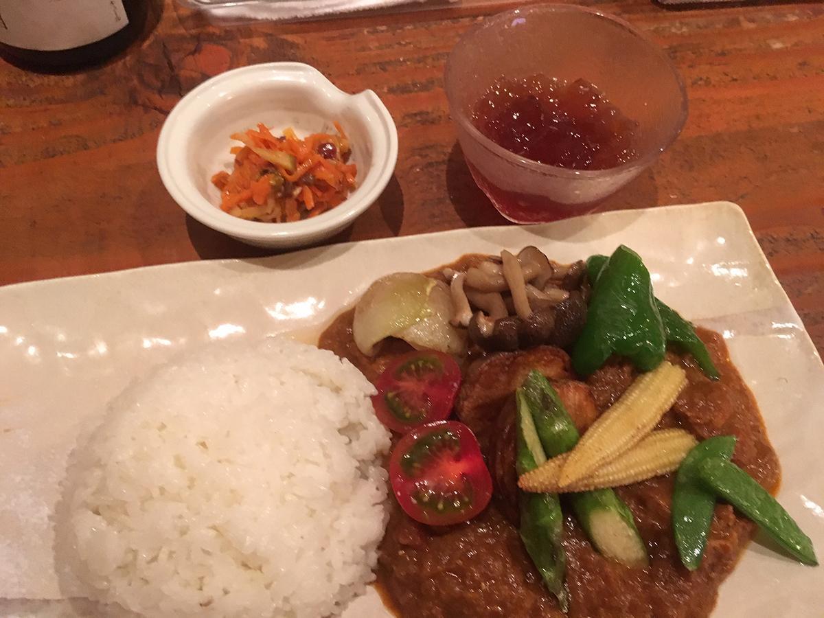 取材日のカレー「鶏と野菜のカレーライス」
