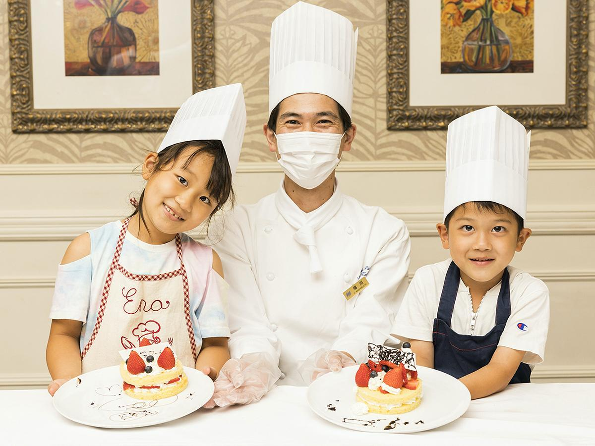 「いちごのショートケーキデコレーション体験」講師担当シェフパティシエの橿淵秀樹さん