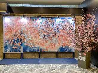 ホテルメトロポリタンエドモントで参加型アート企画「咲かせよう、満開の桜」