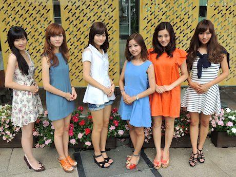左から候補者の伊東楓さん、鎌田あゆみさん、藤井里砂さん、山本莉奈さん、内田有紗さん、高木理沙さん