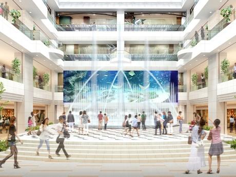 リニューアル後の噴水広場(イメージ)