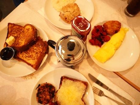店で提供している朝食メニュー