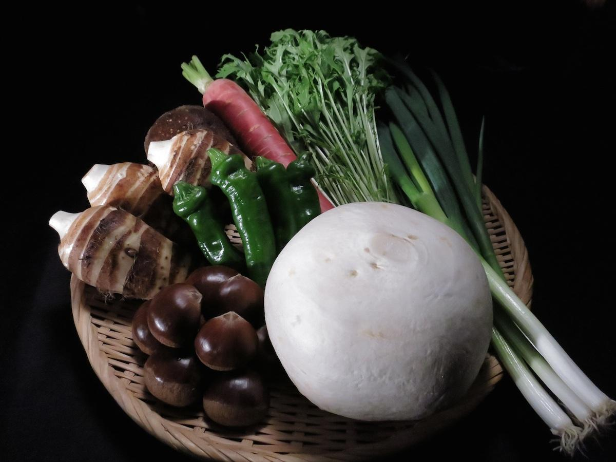 京のブランド農産物「京みず菜」「京丹波大黒本しめじ」など