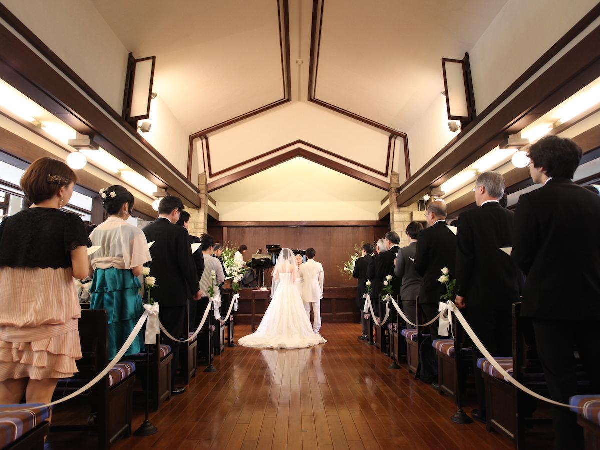 自由学園明日館での結婚式の様子