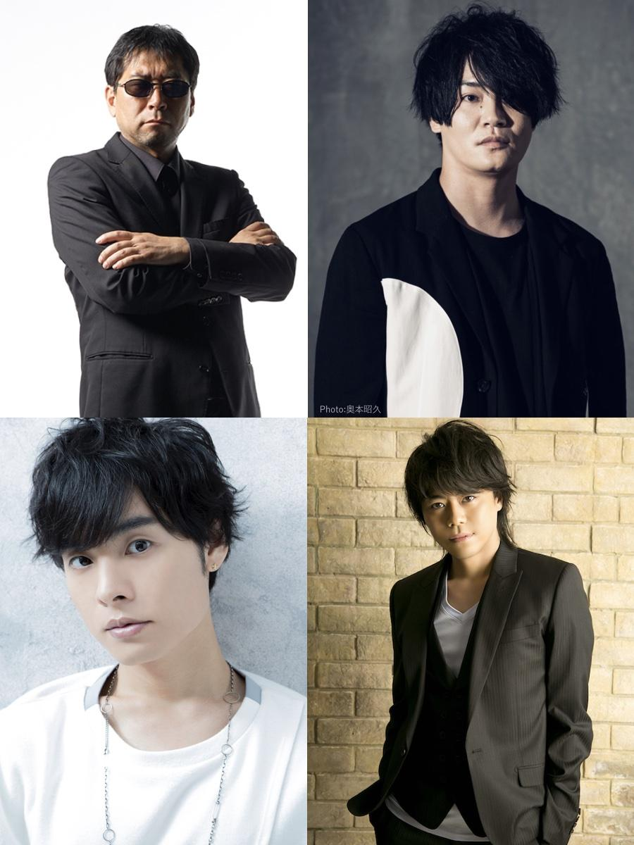 三上丈晴さん(左上)、細谷佳正さん(右上)、岡本信彦(左下)、浪川大輔さん(右下)