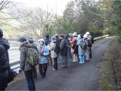 「横山ビジターセンター」の月例企画横山自然観察会「オシドリの観察」