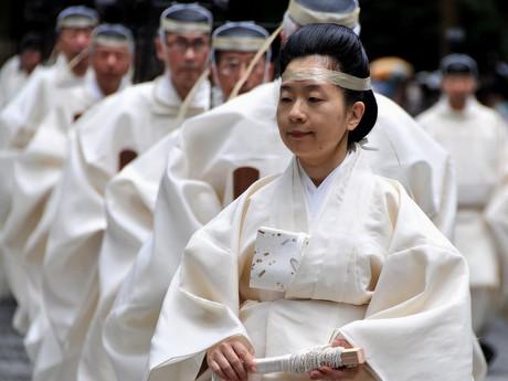伊勢神宮の重要な祭り「月次祭」-臨時祭主・黒田清子さん外宮と内宮で