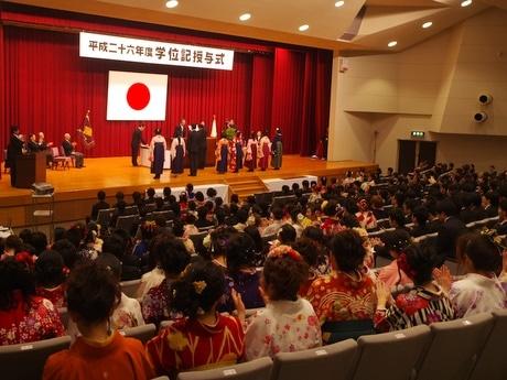 皇學館大学、703人が卒業-伊勢神宮外宮・内宮を参拝し式に臨む